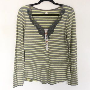 WE THE FREE striped thermal top